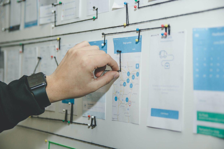 An engineer plotting a user journey