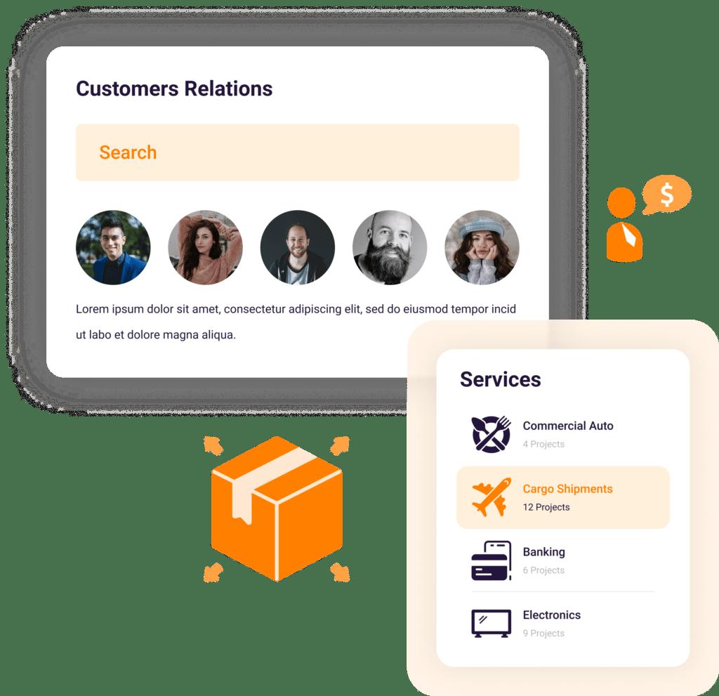 Customers of a company