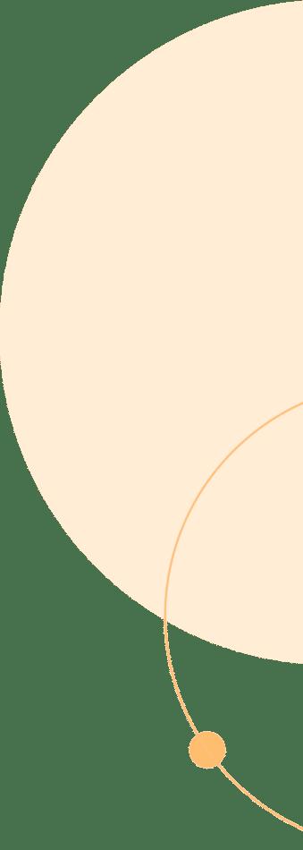 Overlapping Orange Circles